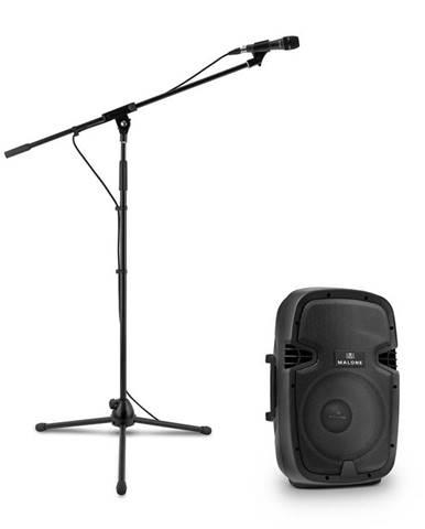 Malone PW-2112, sada s aktívnym PA reproduktorom a mikrofónom, 600 W, čierna