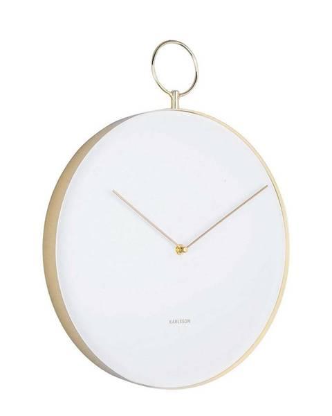 Karlsson Karlsson 5765WH dizajnové nástenné hodiny, pr. 34 cm