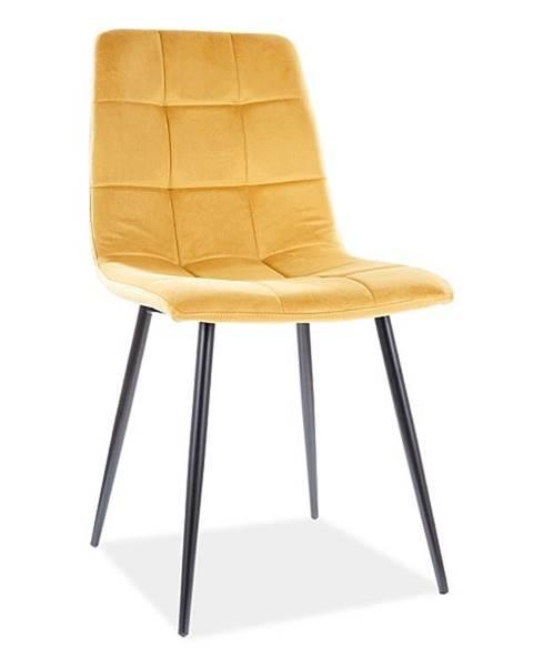Signal Signal Jedálenská stolička Mila Velvet