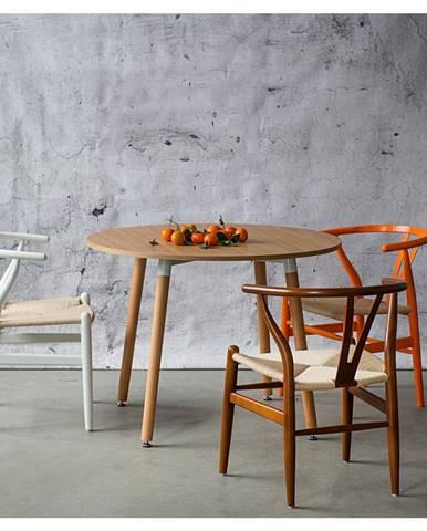 ArtD Jedálenská stolička Wicker Color inšpirovaná Wishbone