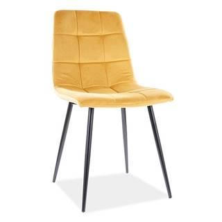 Signal Jedálenská stolička Mila Velvet