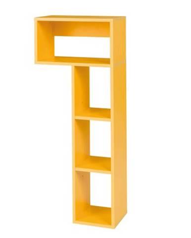 Regál B9 žltá MATEL