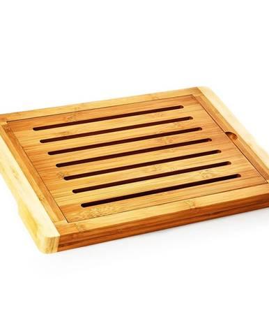 Klarstein Doska na krájanie chleba s priehradkou na omrvinky, bambus, 38 x 3 x 25,5 cm (ŠxVxH), recyklovateľná