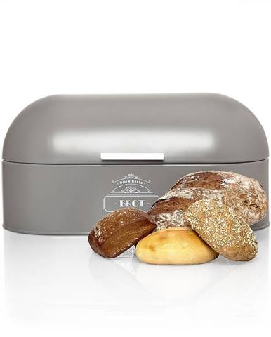 Klarstein Kovová chlebovnica s drevenou rúčkou, plech, uchováva arómu, retro vzhľad