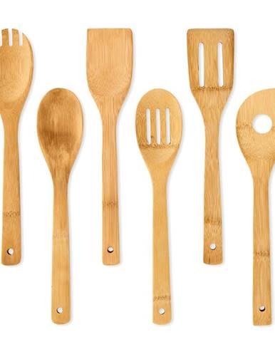 Klarstein Kuchynské príslušenstvo, kuchynské lyžice a obracačky, súprava 6 kusov, udržateľné, bambus