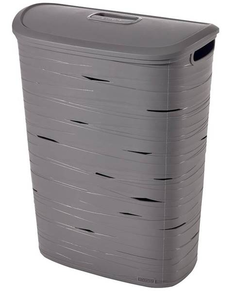 MERKURY MARKET Kôš na bielizeň Ribbon 49l 221814 šedý