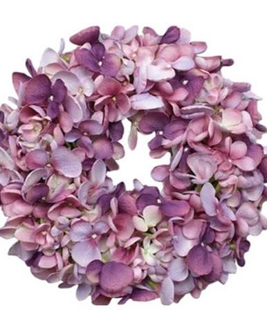 Umelý veniec Hortenzia fialová, pr. 24 cm