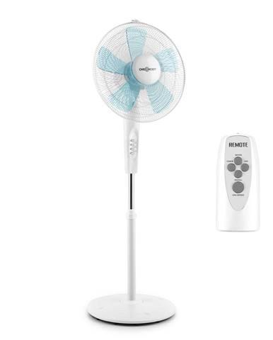 OneConcept White Blizzard RC 2G, stojanový ventilátor, 50 W, 41 cm, diaľkový ovládač, biely