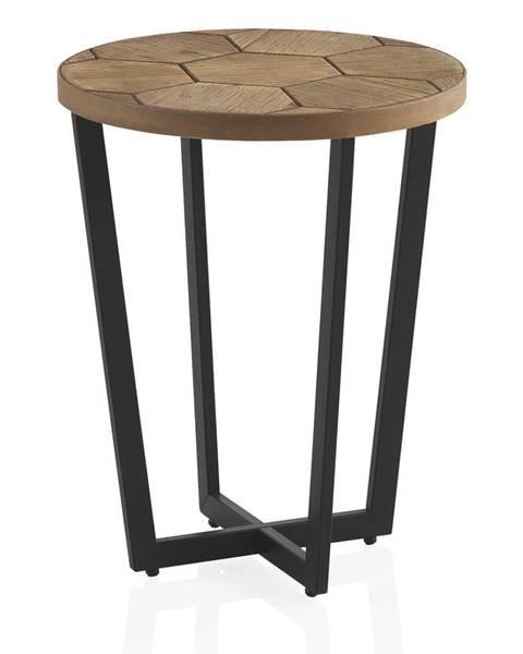 Geese Odkladací stolík s čiernou železnou konštrukciou Geese Honeycomb