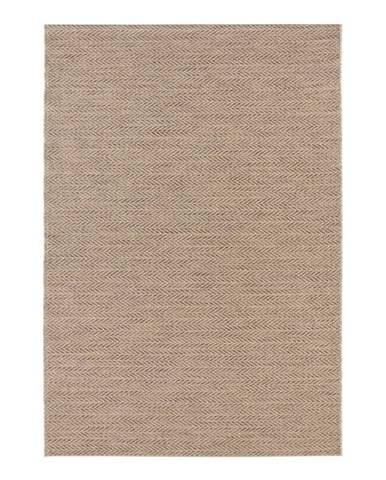 Hnedý koberec vhodný aj do e×teriéru Elle Decor Brave Caen, 80 × 150 cm