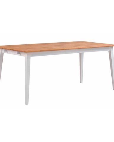 Prírodný dubový jedálenský stôl s bielymi nohami Rowico Mimi, 180 x 90cm