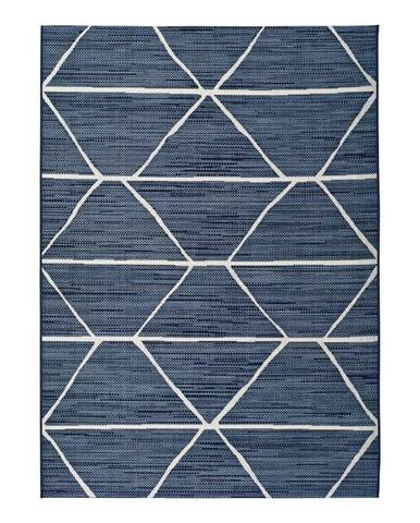 Modrý vonkajší koberec Universal Elba Geo, 60 x 110 cm