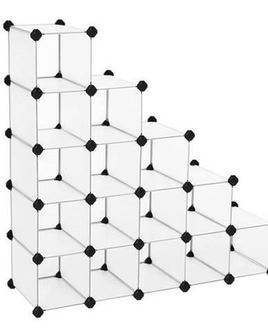Regál LPC44 biela/transparentná