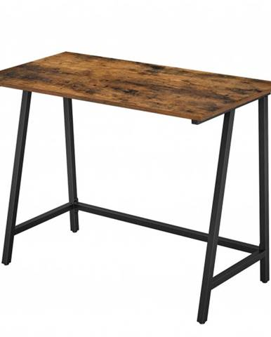 Písací stôl ALMA čierna/hnedá, šírka 100 cm