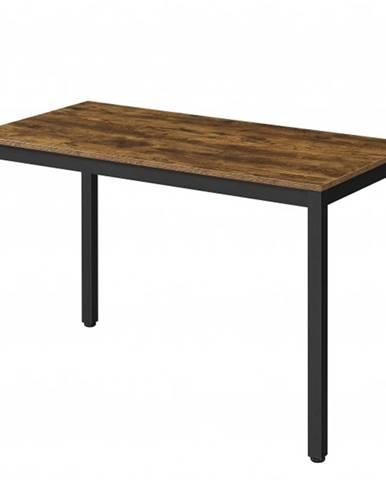 Písací stôl MAIA čierna/hnedá, šírka 120 cm