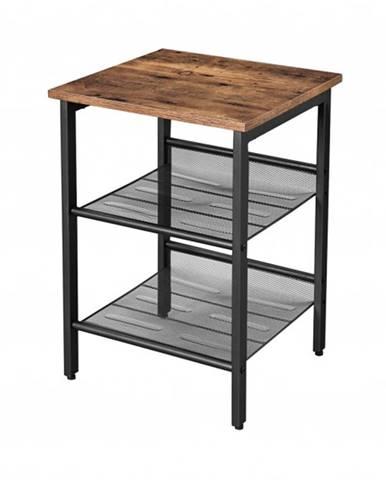 Prístavný stolík PURI čierna/hnedá