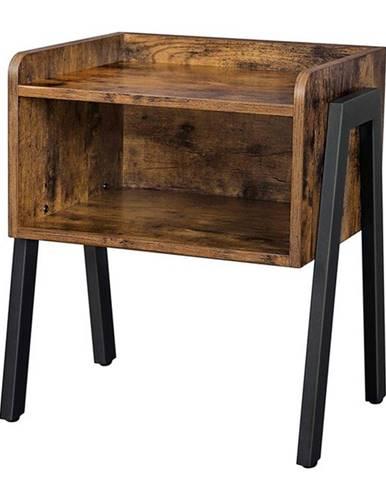 Prístavný stolík SVAN čierna/hnedá