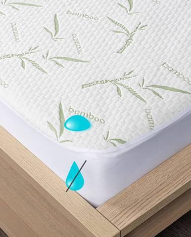4home Bamboo Nepriepustný chránič matraca s lemom, 200 x 200 cm
