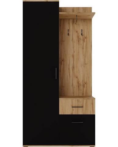Predsieňový nábytok Rio wotan/čierna