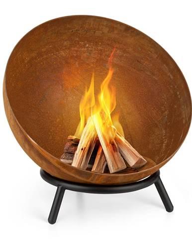 Blumfeldt Fireball Rust, ohnisko, 60 cm Ø, výklopný rošt, hrdzavý vzhľad