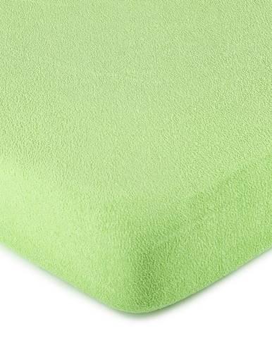 4Home froté prestieradlo zelená, 180 x 200 cm