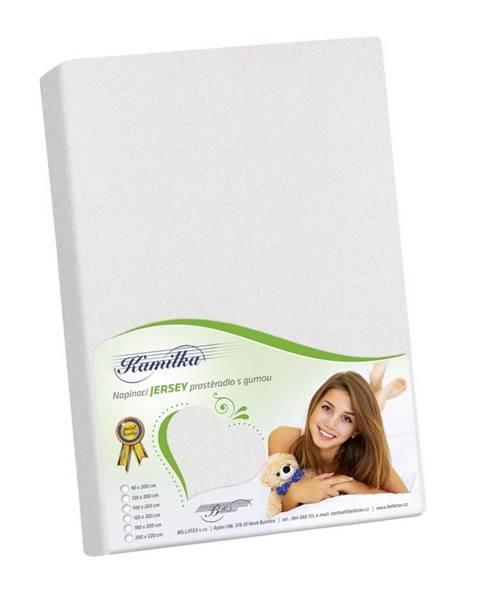 Bellatex Bellatex jersey prestieradlo Kamilka biela, 90 x 200 cm