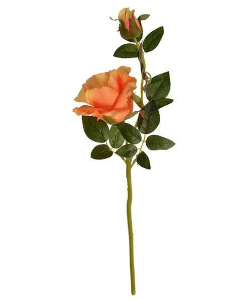 Philips Umelá kvetina Čajová ruža oranžová, 47 cm