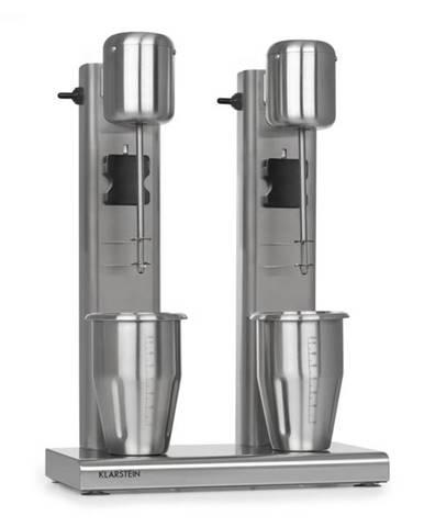 Klarstein Kraftpaket II, dvojitý mixér na mliečne kokteily, teínové kokteily, 160 W, ušľachtilá oceľ