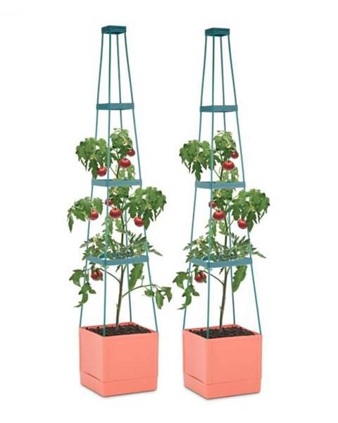 Waldbeck Waldbeck Tomato Tower, črepník na paradajky, set 2 ks, 25 x 150 x 25 cm, mriežka na upínanie, PP