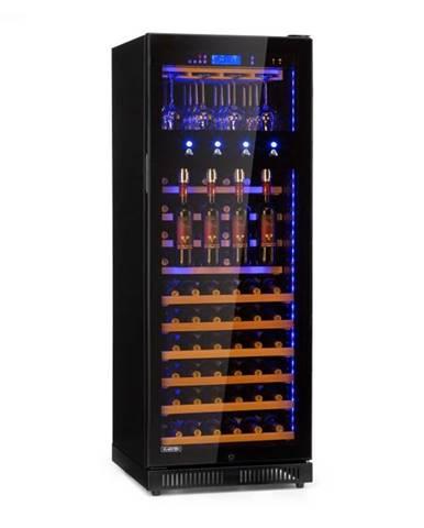 Klarstein First Class 84, chladnička na víno, 4 dispenser, 84 fliaš, 5-22°C, čierna