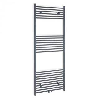 """Besoa Fino 160 x 45, radiátor, 644 W, teplá voda, držiak na uteráky, 1/2"""", 6 – 12 m², sivý"""