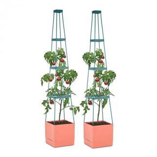 Waldbeck Tomato Tower, črepník na paradajky, set 2 ks, 25 x 150 x 25 cm, mriežka na upínanie, PP