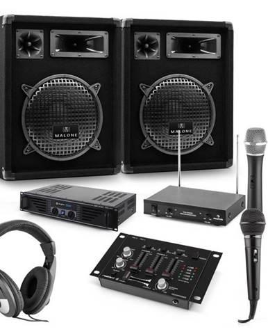 Auna PA sada Mannheim, 7-dielna DJ sada   2 x 3-pásmový reproduktor   zosilňovač   mixážny pult