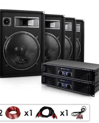 "Electronic-Star Kompletná DJ PA sada ""Miami Quasar Pro"", 2 x zosilňovač, 4 x reproduktor"