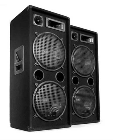 Malone 2 x PW-2222 DJ 3-pásmový reproduktor 2 x 30 cm 1000 W