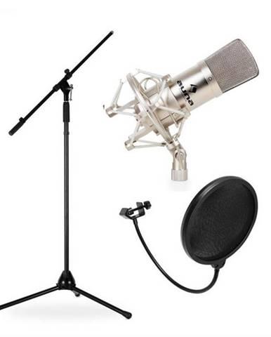 Auna CM001S, štúdiová/pódiová mikrofónová sada, kondenzátorový mikrofón, statív aprotiveterná ochrana