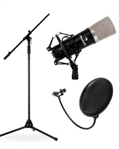 Auna Mikrofónový set, stojan, mikrofón a pop filter