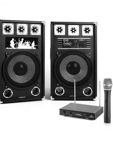 "Electronic-Star Karaoke Set ""STAR-12A"" PA reproduktory, bezdrôtový mikrofón, 800W"