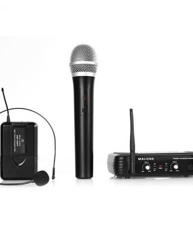 Malone UHF-250 Duo, bezdrôtový mikrofónový set, 2 kanály