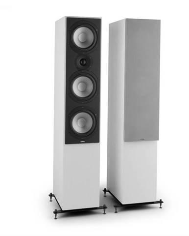 Numan Reference 801c,trojcestný stojaci reproduktor, pár, biela farba, vrátane strieborných krytov