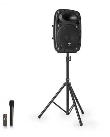"""Auna Streetstar 10, mobilný PA systém +  statív, 10"""" woofer, UHF mikrofón, 400 W, čierny"""