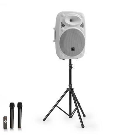 "Auna Streetstar 15, mobilný PA systém + statív, 15"" woofer, UHF mikrofón, 1000 W, biely"