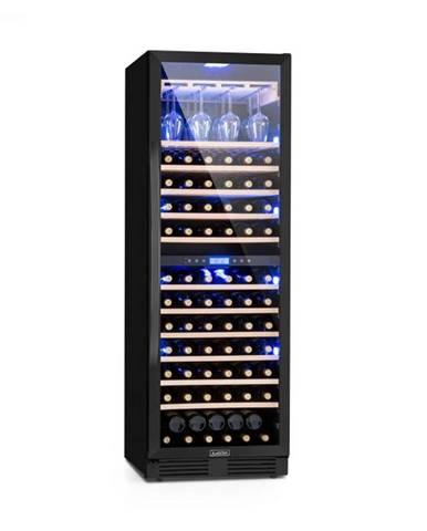 Klarstein Vinovilla Onyx Grande Duo, vinotéka, 425 l, 165 fliaš, 3 farby, čierna