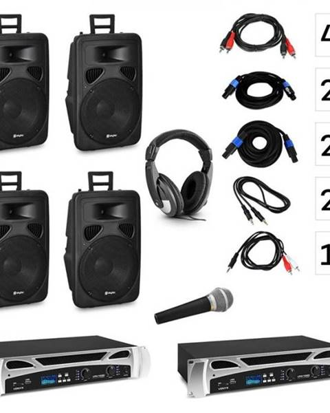 Vonyx Vonyx Berlin Nights, DJ systém – sada, zosilňovač, reproduktor, DJ slúchadlá, mikrofón