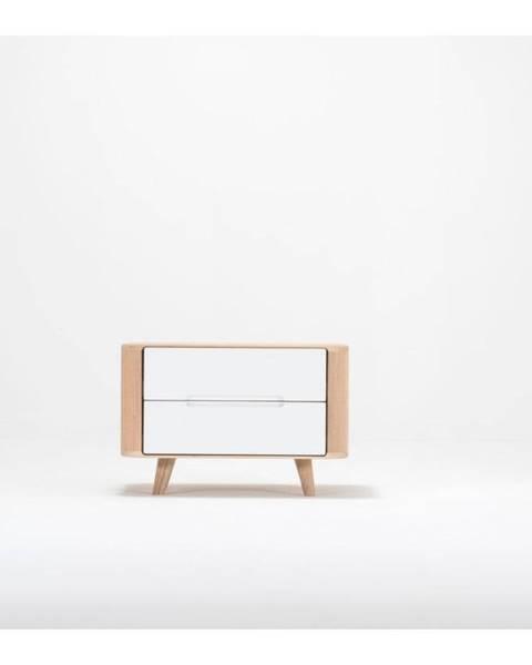 Gazzda Nočný stolík z dubového dreva Gazzda Ena One, 60×42×40 cm