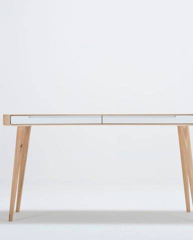 Pracovný stôl z dubového dreva Gazzda Ena, 140×60cm