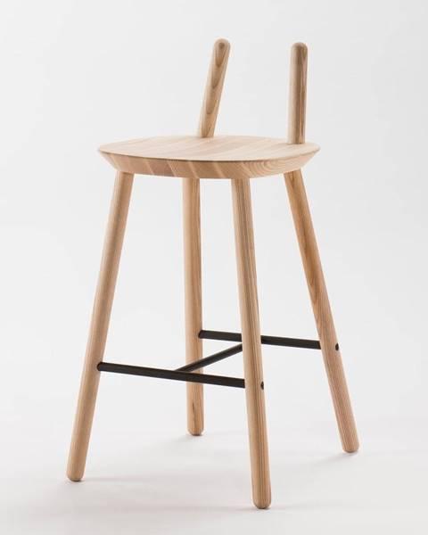 EMKO Prírodná barová stolička z masívu EMKO Naïve