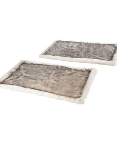 Sada 2 hnedých koberčekov k posteli Mint Rugs Soft, 90 x 140 cm