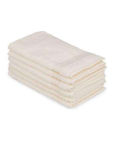 Sada 6 svetlokrémových bavlnených uterákov Madame Coco Lento Crema, 30×50cm