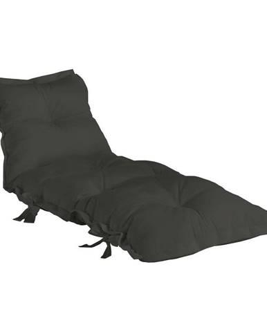 Tmavosivý variabilný futón vhodný do exteriéru Karup OUT™ Sit&Sleep Dark Grey